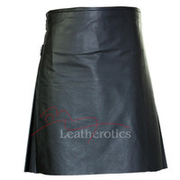 Leather Kilt Pleated Scottish - front