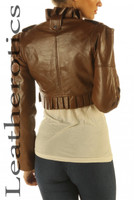 Antique brown bolero Jacket pic 2