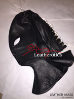 Full Grain Leather Long Line Mask Hood bondage bdsm  image 3