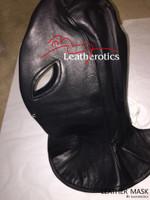 Full Grain Leather Long Line Mask Hood bondage bdsm  image 6