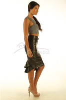 Fishtail Leather Skirt Elegant Vintage mermaid Style