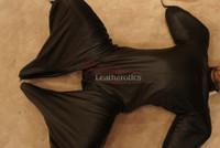 Leather Bodybag Bondage B-Suit with Mask Restraint Gimp suit pic 12