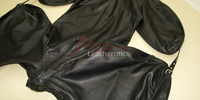 Leather Bodybag Bondage B-Suit with Mask Restraint Gimp suit pic 2