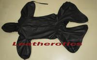 Leather Bodybag Bondage B-Suit with Mask Restraint Gimp suit pic 1