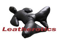 Leather Bodybag Bondage B-Suit with Mask Restraint Gimp suit pic 11
