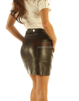 Skirt nappa leather