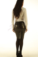 real leather skirt