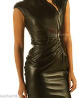 Black leather dress pic 4