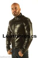 Full Grain Leather Jacket Classic Waist Length Cowhide Black VP