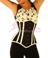 Cotton Corset Full Steel Boned front view