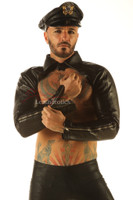 Men's Leather Collar With Sleeves Top Muscle Jacket