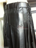 Men's Full Grain Leather Kilt Wrap Around Sheep K9