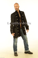 Gothic Steampunk Vintage Dress Coat Pirate Military Top SPVL side