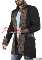 Black Cotton Fitted Vintage Style Jacket