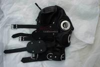 Bdsm Hood Goat Leather Leder Cuir Tight mask MASKE 6