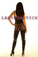 micro mini skirt black leather