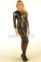 Black Leather Dress custsom made Tb - front