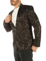Deluxe Men's Vintage Black Blazer - side