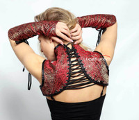 Neck Shoulder Corset With Gloves Goth   image 2