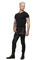 Skin Tight Full Grain Leather Men's Soft Trousers