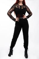 Lace Trim Ladies Summer Jumpsuit Playsuit All In One Jumpsuit