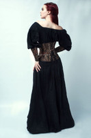 Underbust Brocade Corset with arm Gloves 1811