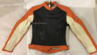 New Full Grain Leather Mens Biker Suit Jacket