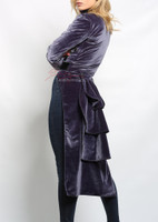 steampunk ladies jacket in purple (side view)
