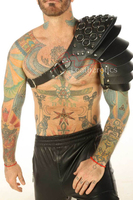 Leather Cloven Hoof Mail Spaulder Harness Armour Gladiator cosplay