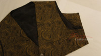 Mens Waistcoat Vest Brocade Gothic Steampunk Wedding Paisley Luxury 5