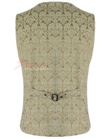Mens Waistcoat Vest Brocade Gothic Steampunk Wedding Paisley Luxury 2