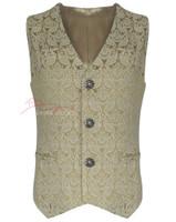 Mens Waistcoat Vest Brocade Gothic Steampunk Wedding Paisley Luxury 1
