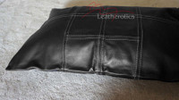 Top Grain Soft Supple Panelled Leather Pillow Cover / Cushion