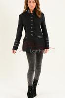 Ladies Black Cotton Jacket LBC 9