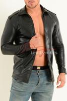 Mens Fine Leather Shirt  1