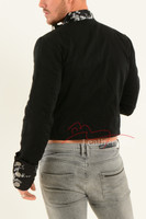 Men's steampunk jacket mens floral cuffs 2