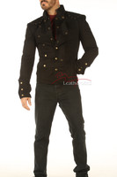Men's Steampunk Military jacket - front 2