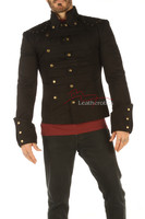 Men's Steampunk Military jacket - front