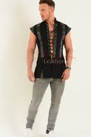 Gothic Gothic Medieval Military Vest - front