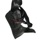 Black leather cat ears mask 2