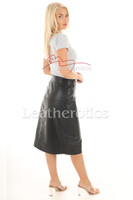 A Line Real Leather Skirt 6