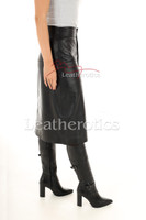A Line Real Leather Skirt 2