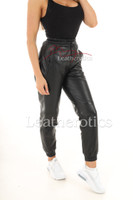 Ladies Real Leather Jogging Pants 1