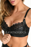 Real leather bra 2