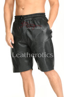 Perforated Leather Shorts Gents - front 2