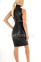 Long Leather dress - back