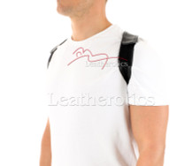 Men's Leather Posture Support - front