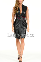 Ladies Leather Dress MD92 - front