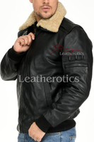 Leather Jacket With Fur Collar 4