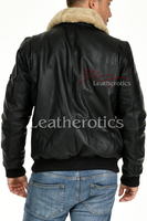 Leather Jacket With Fur Collar 2